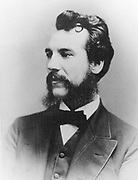 Alexander Graham Bell (1847-1922) Scottish-born American inventor; patented telephone 1876. Photograph of Bell as a young man.