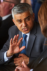 © Licensed to London News Pictures. 8/05/2016. London, UK. London's newly elected mayor, Sadiq Khan at 'Yom Hashoah' the UK Jewish communities national holocaust remembrance commemoration at Barnet Copthall Stadium, north west London.<br /> Photo credit: Simon Jacobs/LNP