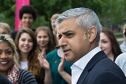 City Hall, London, May 19th 2016. PICTURED: Mayor of London Sadiq Khan congratulates the dancers the dancers.<br /> <br /> The Mayor of London Sadiq Khan joins internationally-celebrated choreographer Akram Khan and Londoners from across the capital as they do their warm-ups at City Hall for the international Big Dance Pledge.<br />  <br /> The preview of the performance ahead of the world-wide Big Dance event. On Friday 20 May, over 40,000 people in 43 countries around the world will take part in the dance, which has been specially choreographed by Akram Khan.