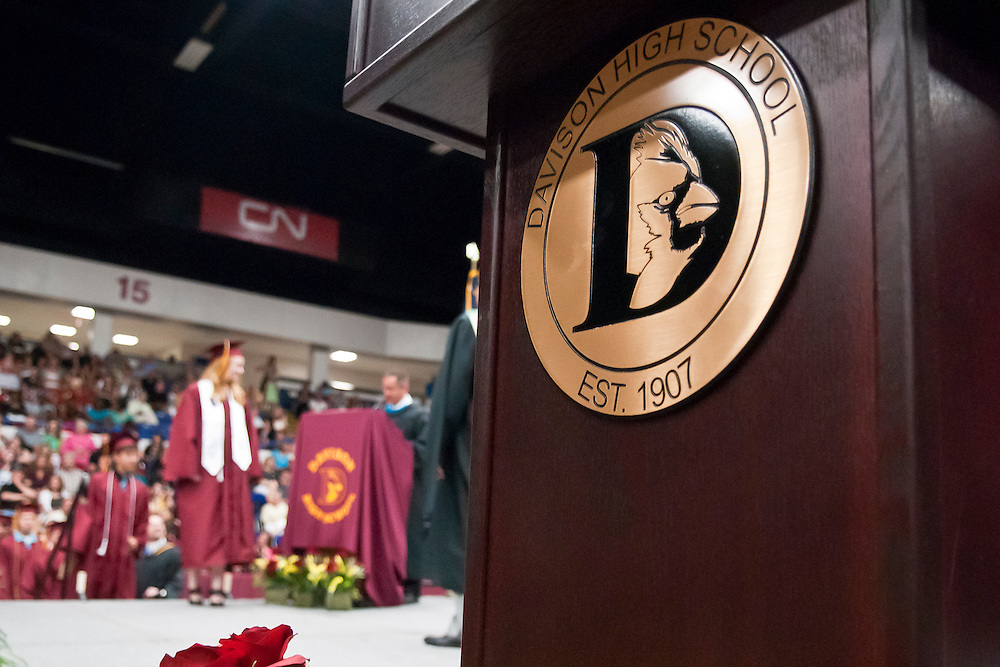 Lathan Goumas | MLive.com..A graduate prepares to walk across the stage during the 2012 Davison High School commencement ceremony at the Perani Arena in Flint, Mich. on Monday June 11, 2012.
