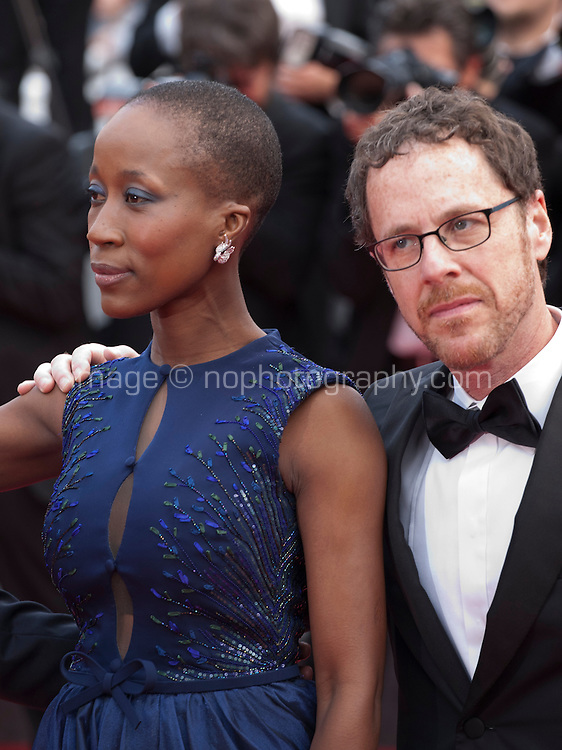 Rokia Traore and Ethan Coen at the Closing ceremony and premiere of La Glace Et Le Ciel at the 68th Cannes Film Festival, Sunday 24th May 2015, Cannes, France.