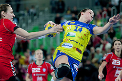 Yvette Broch of Metz (FRA) during handball match between RK Krim Mercator (SLO) and Metz Handball (FRA) in season 2011/2012 of EHF Women's Champions League, on March 10, 2012 in Arena Stozice, Ljubljana, Slovenia. Krim defeated Metz 28-24. (Photo By Grega Valancic / Sportida.com)
