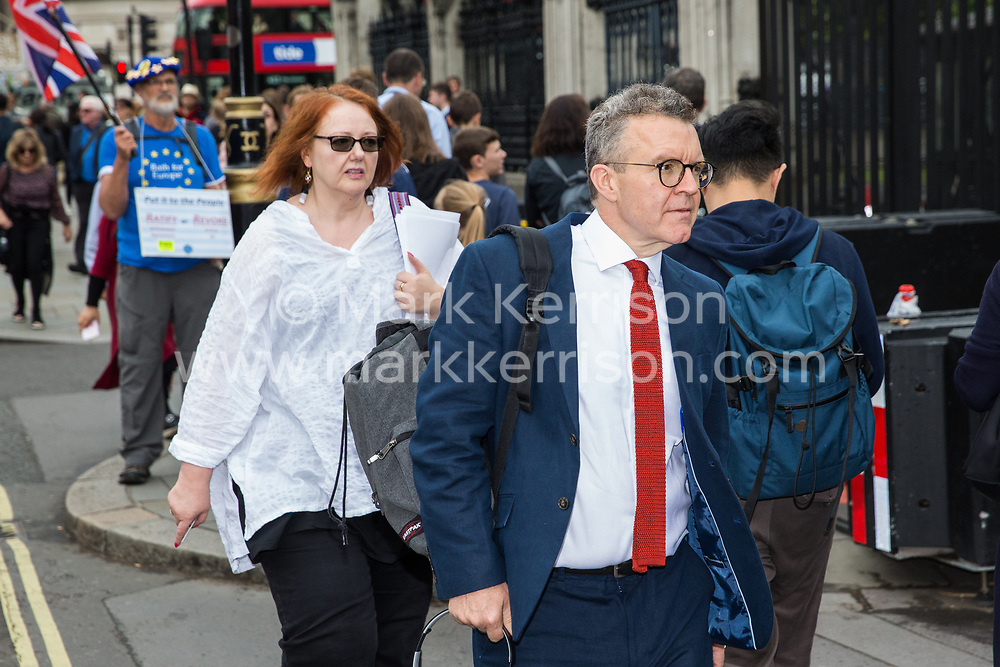 London, UK. 18 June, 2019. Tom Watson MP, Deputy Leader of the Labour Party, arrives at Parliament.