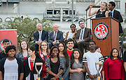 Groundbreaking ceremony for the new High School for Performing and Visual Arts in downtown Houston, December 14, 2014.