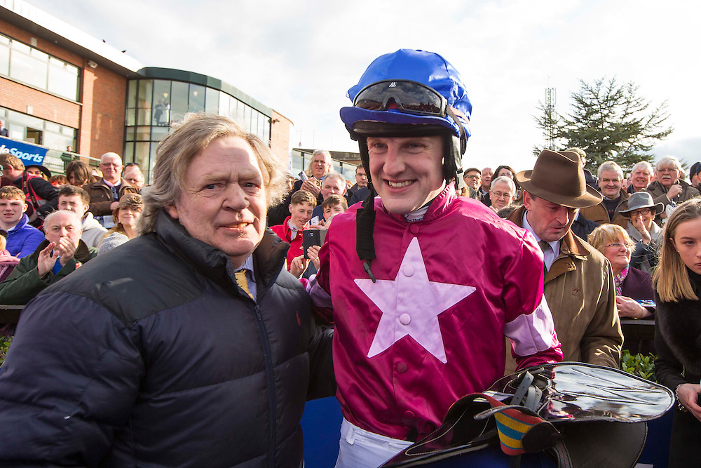 Horse Racing - Fairyhouse Easter Festival, Monday 28th March 2016<br /> Ger Fox pictured with owner Mouse Morris<br /> Photo: David Mullen /www.cyberimages.net / 2016
