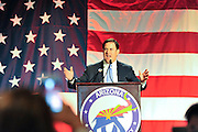 November 8, 2016. Arizona Governor Doug Ducey congratulates republicans as they help Donald Trump win the presidential election on election night at the Phoenix Convention Center. Spot News, General News images for Newspapers by Photojournalist Pablo Robles.