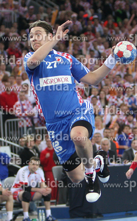 Ivan Cupic (27) of Croatia during 21st Men's World Handball Championship 2009 semifinals match between National teams of Poland and Croatia, on January 30, 2009, in Arena Zagreb, Zagreb, Croatia.  (Photo by Vid Ponikvar / Sportida)