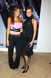 Left to right, violinist NICOLA BENEDETTI and singer BEULAH at a private view of 'The World's Most Photographed' exhibition hosted by Vanity Fair and Mont Blanc to celebrate Greta Gabo's 100th Birthday at the National Portrait Gallery, St.Martin's Place, London on 19th September 2005.<br /><br />NON EXCLUSIVE - WORLD RIGHTS