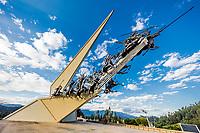 Pantano de Vargas memorial Paipa Boyaca in Colombia South America