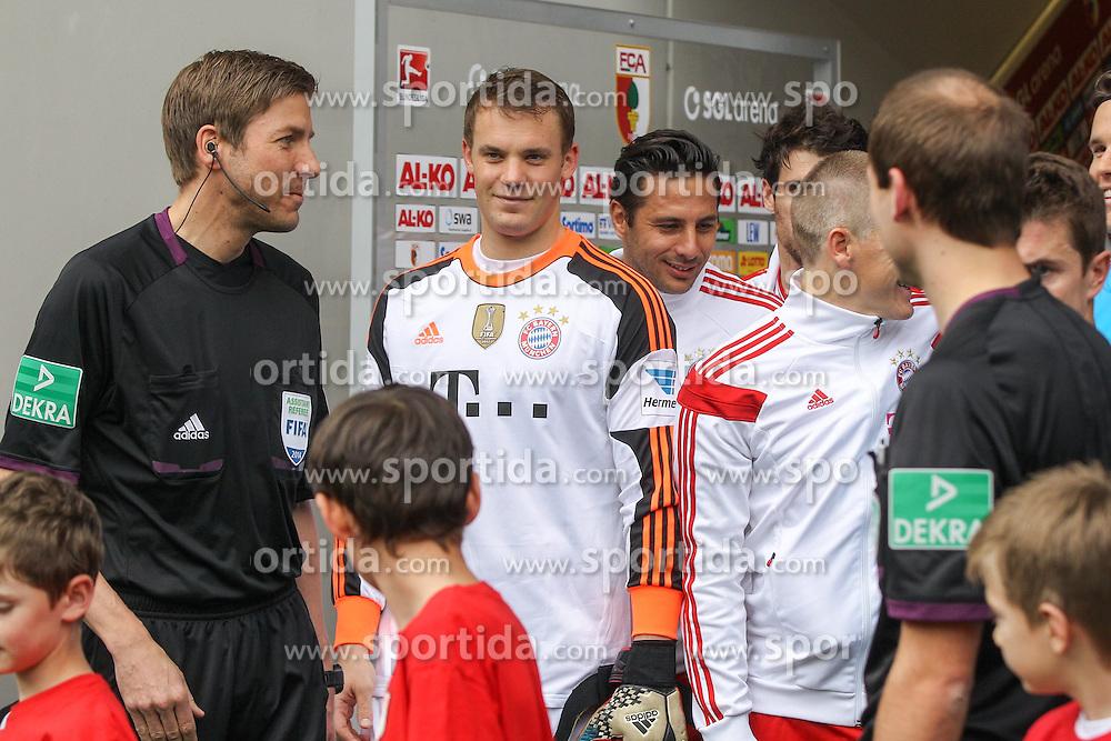 05.04.2014, SGL Arena, Augsburg, GER, 1. FBL, FC Augsburg vs FC Bayern Muenchen, 29. Runde, im Bild Manuel Neuer #1 (FC Bayern Muenchen) // during the German Bundesliga 29th round match between FC Augsburg and FC Bayern Munich at the SGL Arena in Augsburg, Germany on 2014/04/05. EXPA Pictures &copy; 2014, PhotoCredit: EXPA/ Eibner-Pressefoto/ Kolbert<br /> <br /> *****ATTENTION - OUT of GER*****
