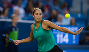 Madison Keys of the United States in action during her quarter-final match at the 2018 Western and Southern Open WTA Premier 5 tennis tournament, Cincinnati, Ohio, USA, on August 17th 2018, Photo Rob Prange / SpainProSportsImages / DPPI / ProSportsImages / DPPI