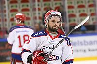 2020-02-12 | Ljungby, Sweden: Huddinge IK (6) Simon Eriksson during the game between IF Troja / Ljungby and Huddinge IK at Ljungby Arena ( Photo by: Fredrik Sten | Swe Press Photo )<br /> <br /> Keywords: Ljungby, Icehockey, HockeyEttan, Ljungby Arena, IF Troja / Ljungby, Huddinge IK, fsth200212, ATG HockeyEttan, Allettan