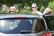 Princess Elena, King Felipe VI of Spain, King Juan Carlos of Spain attended the 80th birthday party of Princess Pilar at his house in Calvia on July 30, 2016 in Mallorca, Spain