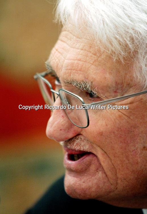 German philosopher and sociologist Jurgen Habermas<br /> <br /> copyright Riccardo De Luca/Writer Pictures<br /> contact  +44(0)20 8241 0039<br /> info@writerpictures.com<br /> www.writerpictures.com