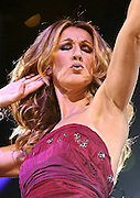 Singer Celine Dion performs during her 'Taking Chances' Tour at Madison Square Garden in New York City, USA on September 15, 2008.