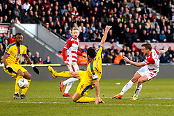 James Coppinger of Doncaster Rovers shoots at goal - Mandatory by-line: Robbie Stephenson/JMP - 17/02/2019 - FOOTBALL - The Keepmoat Stadium - Doncaster, England - Doncaster Rovers v Crystal Palace - Emirates FA Cup fifth round proper