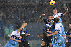 October 29, 2018 - Italy - Matias Vecino, Sergej Milinkovic-Savic, during the Italian Serie A football match between S.S. Lazio and Inter at the Olympic Stadium in Rome, on october 29, 2018. (Credit Image: © Silvia Lor/Pacific Press via ZUMA Wire)