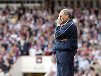 Photo: Chris Ratcliffe.<br /> West Ham United v Tottenham Hotspur. The Barclays Premiership. 07/05/2006.<br /> Martin Jol cannot hide his disappointment at not making the Champions League.