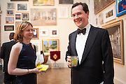 FRANCES OSBORNE; GEORGE OSBORNE, Royal Academy Annual Dinner 2013. Piccadilly. London. 4 June 2013.