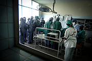 Kinshasa November 30, 2005 - The Kinshasa General Hospital, is far from being a bush dispensary. With its 2,000 beds and its 2,250 employees (doctors, nurses and administrative personnel), it is one of Africa's most impressive medical facilities. It offers a full range of services and is the undisputed referral centre for the Congolese capital. Its patients the sick, accident victims and war casualties, both civilian and military  have one thing in common: their suffering, which the staff do their best to alleviate with the means available. But those means are often woefully inadequate