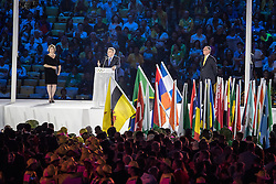 05.08.2016, Maracana, Rio de Janeiro, BRA, Rio 2016, Olympische Sommerspiele, Eröffnung der XXXI. Olympiade, im Bild IOC Präsident Thomas Bach // IOC President Thomas Bach during the Opening Ceremony of the Rio XXXI 2016 Olympic Summer Games at the Maracana in Rio de Janeiro, Brazil on 2016/08/05. EXPA Pictures © 2016, PhotoCredit: EXPA/ Johann Groder
