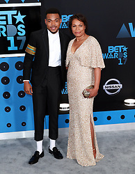 June 25, 2017 - Los Angeles, California, U.S - June 25,2017 ---  Chance the Rapper (L) and Lisa Bennett  attends the BET Awards 2017 at the Microsoft Theater in Los Angeles,California. (Credit Image: © Chris Farina via ZUMA Wire)