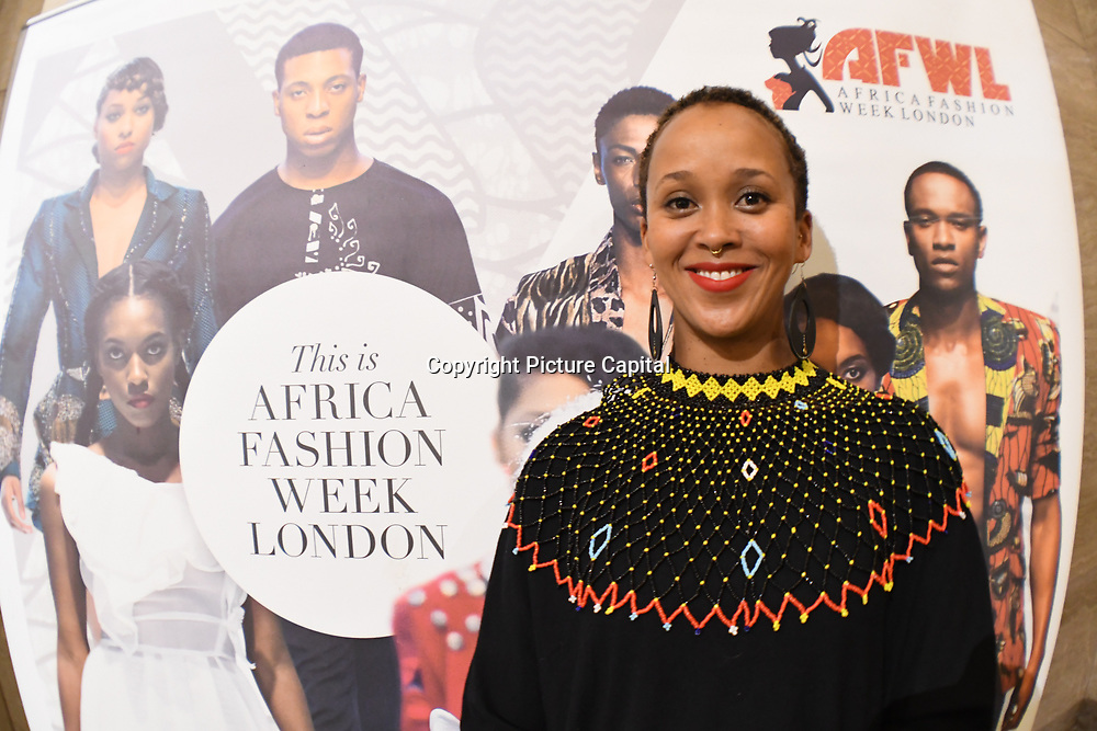 Fashionist attend Stalls exhibition at the the Africa Fashion Week London (AFWL) at Freemasons' Hall on 11 August 2018, London, UK.