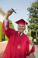 Excited Senior Graduate with Diploma