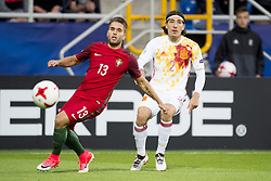 June 20, 2017 - Gdynia, Poland - Kevin Rodrigues of Portugal fight for the ball with Hector Bellerin of Spain during the UEFA European Under-21 Championship 2017  Group B match between Portugal and Spain at Gdynia Stadium in Gdynia, Poland on June 20, 2017  (Credit Image: © Andrew Surma/NurPhoto via ZUMA Press)