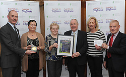 Keadue Tidy Towns Co Roscommon  Gold Medal Winners at the North West and West Region Awards ceremony collecting their prize from Minister of State for Rural development Michael Ring TD and Richard Lennon Supervalu.<br /> Pic Conor McKeown