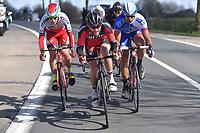 BYSTROM Sven Erik (NOR), WYSS Danilo (SUI), BONNET William (FRA), during the 3 Days de Panne 2015, Stage 1, De Panne - Zottegem (201,6Km), in Belgium, on March 31, 2015. Photo Tim de Waele / DPPI