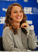 14.SEPT.2010. TORONTO<br /> <br /> NATALIE PORTMAN ATTENDS THE PRESS CONFRENCE FOR  NEW FILM THE BLACK SWAN AT THE 35TH TORONTO FILM FESTIVAL IN TORONTO.<br /> <br /> BYLINE: EDBIMAGEARCHIVE.COM<br /> <br /> *THIS IMAGE IS STRICTLY FOR UK NEWSPAPERS AND MAGAZINES ONLY*<br /> *FOR WORLD WIDE SALES AND WEB USE PLEASE CONTACT EDBIMAGEARCHIVE - 0208 954 5968*