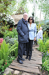 SIR MICHAEL & LADY CAINE at the 2012 RHS Chelsea Flower Show held at Royal Hospital Chelsea, London on 21st May 2012.