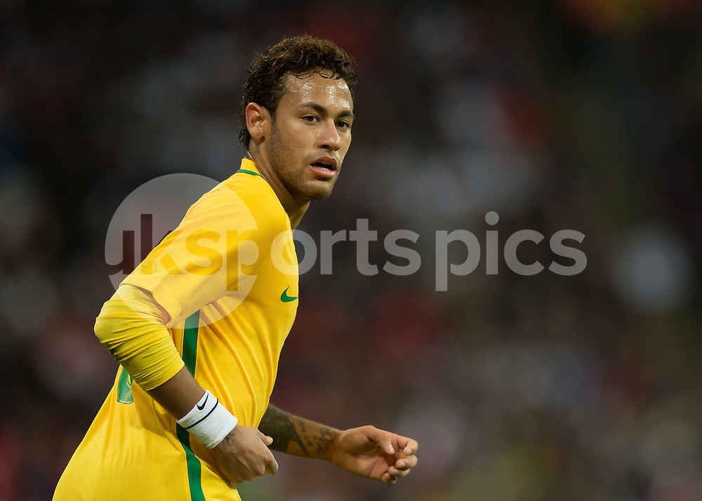 Neymar of Brazil during the International Friendly match between England and Brazil at Wembley Stadium, London, England on 14 November 2017. Photo by Vince Mignott.