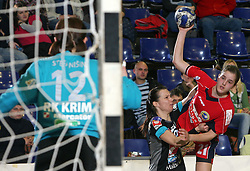 Sergeja Stefanisin, Manuela Hrnjic and Alja Jankovic at handball game ZRK Celje Celjske Mesnine vs RK Krim Mercator in final match of Slovenian Handball Cup,  on April 6, 2008 in Arena Golovec, Celje, Slovenia. Krim won the game 31:21 and became Cup Winner.  (Photo by Vid Ponikvar / Sportal Images)