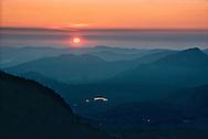 Sunrise in Rocky Mountain National Park.  September 1972