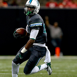 Sep 7, 2013; New Orleans, LA, USA; Tulane Green Wave wide receiver Xavier Rush (82) during the second quarter of a game against the South Alabama Jaguars at the Mercedes-Benz Superdome. Mandatory Credit: Derick E. Hingle-USA TODAY Sports
