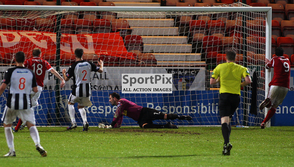 Dunfermline Athletic v Aberdeen Scottish Communities League Cup 3rd Round East End Park 26 September 2012..Scott Vernon scores..(c) Craig Brown | StockPix.eu