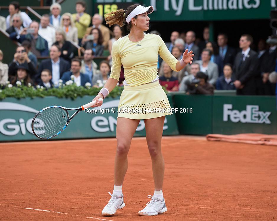 Garbine Muguruza (ESP) Matchball,Sieg,Damen Final, Endspiel,<br /> <br /> Tennis - French Open 2016 - Grand Slam ITF / ATP / WTA -  Roland Garros - Paris -  - France  - 4 June 2016.