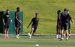 John Stones of Manchester City warms up with his team mates - Mandatory by-line: Matt McNulty/JMP - 23/08/2016 - FOOTBALL - Manchester City - Training session ahead of Champions League qualifier against Steaua Bucharest