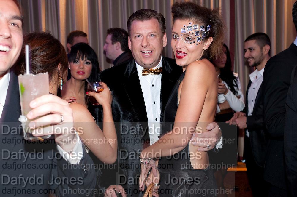 MARK ROW; ANIA PONIATOWSKA, The London Bar and Club awards. Intercontinental Hotel. Park Lane, London. 6 June 2011. <br /> <br />  , -DO NOT ARCHIVE-© Copyright Photograph by Dafydd Jones. 248 Clapham Rd. London SW9 0PZ. Tel 0207 820 0771. www.dafjones.com.