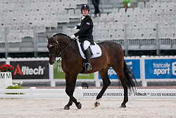 Sergey Kulikov riding Silva Le Andro in the Grade II Individual Tests at the 2014 World Equestrian Games, Caen, Normandy, France
