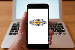 Using iPhone smartphone to display logo of JD Wetherspoons pub chain