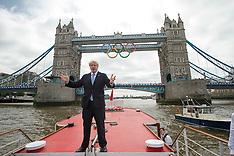 Olympic Rings.Tower Bridge 27-6-12