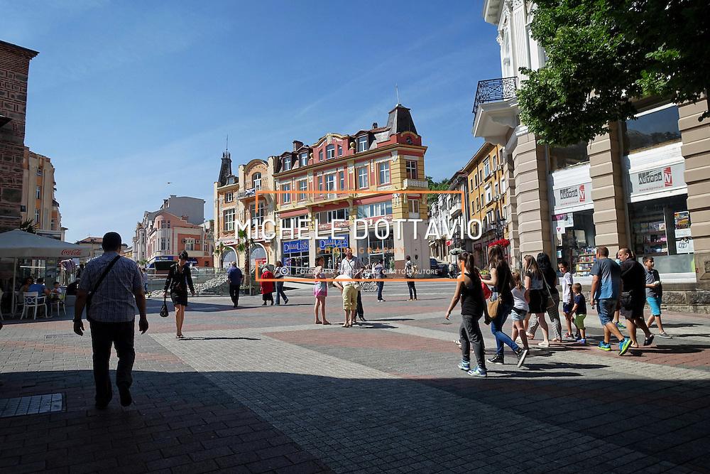 la centralissima piazza Dumaja Plovdiv, Bulgaria
