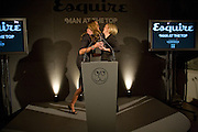 ELLE MACPHERSON RECEIVES THE WOMAN AT THE TOP AWARDFROM  MARIELLA FROSTRUP,  Esquire Man at the Top Awards 2008. Haymarket Hotel. London. 3 November 2008 *** Local Caption *** -DO NOT ARCHIVE -Copyright Photograph by Dafydd Jones. 248 Clapham Rd. London SW9 0PZ. Tel 0207 820 0771. www.dafjones.com