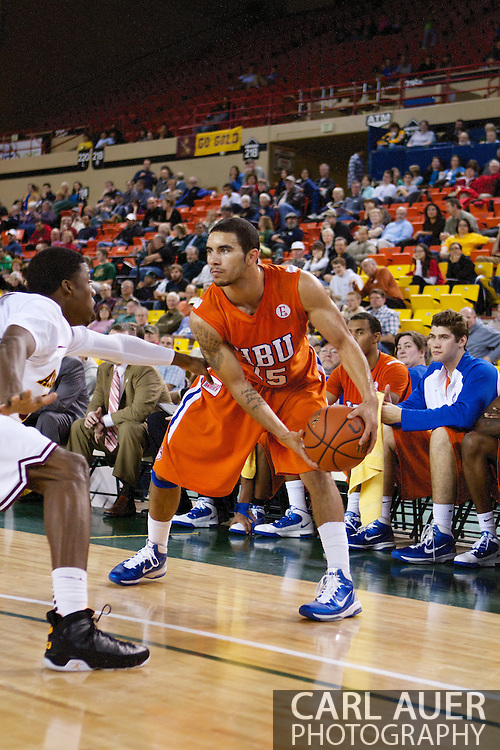 November 25th, 2010:  Anchorage, Alaska - Houston Baptist guard, Shawn Echols (15) in the Huskies 55-73 loss to Arizona State in a first round game of the Great Alaska Shootout.
