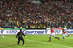 October 8, 2017 - Alexandria, Egypt - Egypt's Mohamed Salah Celebrating second goal during the 2018 World Cup group E qualifying soccer match at the Borg El Arab Stadium in Alexandria, Egypt, Sunday, Oct. 8, 2017. Egypt won 2-1. (Credit Image: © Ahmed Awaad/NurPhoto via ZUMA Press)