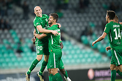 Tomislav Tomic, Rok Kronaveter during football match between NK Olimpija Ljubljana and Aluminij in Round #9 of Prva liga Telekom Slovenije 2018/19, on September 23, 2018 in Stozice Stadium, Ljubljana, Slovenia. Photo by Morgan Kristan