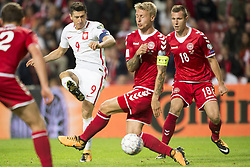 September 1, 2017 - Copenhagen, Denmark - Robert Lewandowski of Poland in action during the FIFA World Cup 2018 Qualifying Round between Denmark and Poland at Telia Parken Stadium in Copenhagen, Denmark on September 1, 2017  (Credit Image: © Andrew Surma/NurPhoto via ZUMA Press)